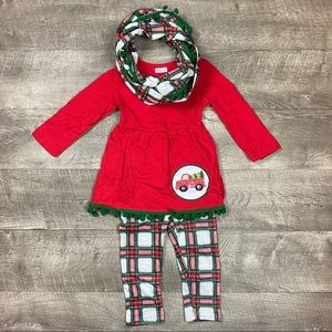 Girls truck Christmas 3 piece outfit